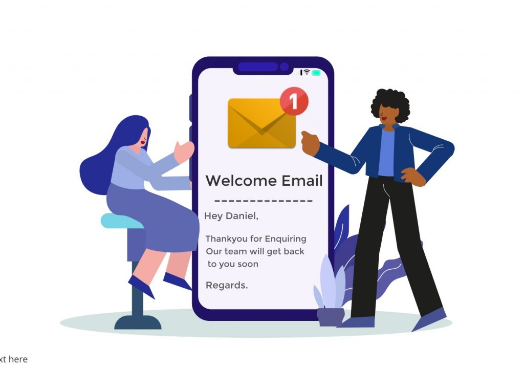 Welcome email to new leads and automate lead generation